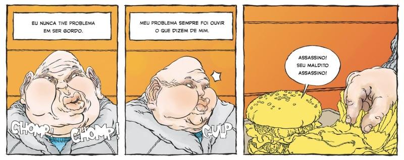 Parte da primeira tira publicada, de Luciano Salles